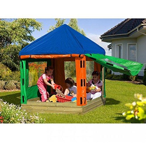 sandkasten toni aus holz mit pavillon von gartenpirat - Sandkasten TONI aus Holz mit Pavillon von Gartenpirat®